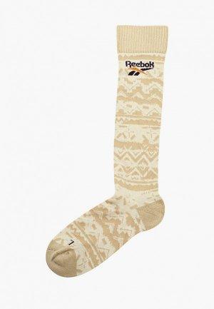 Носки Reebok Classic. Цвет: бежевый