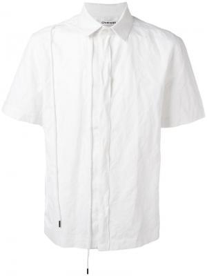 Рубашка String с короткими рукавами Chalayan. Цвет: белый