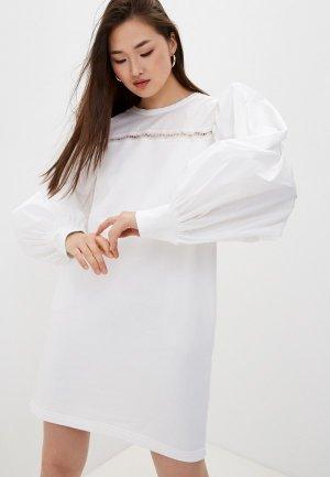 Платье Karl Lagerfeld. Цвет: белый