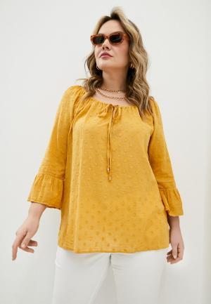 Блуза Elena Miro. Цвет: желтый