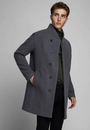 Пальто Jack & Jones. Цвет: серый