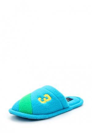 Тапочки Polo Ralph Lauren. Цвет: голубой