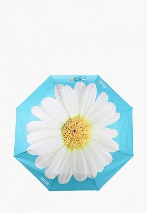 Зонт складной Boutique Moschino. Цвет: бирюзовый