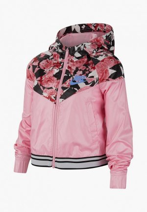 Ветровка Nike. Цвет: розовый