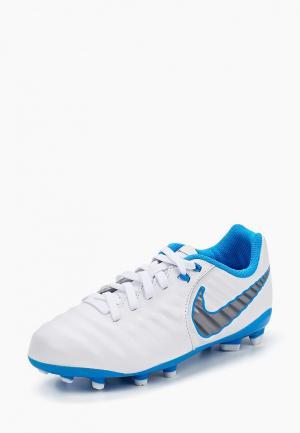 Бутсы Nike. Цвет: белый
