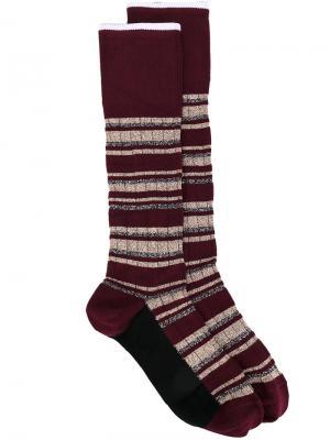 Носки в полоску Marni. Цвет: красный