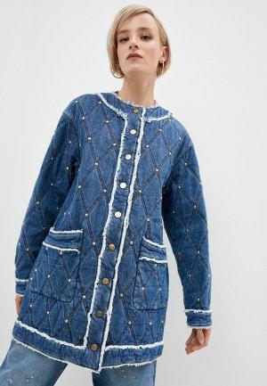 Куртка джинсовая Just Cavalli. Цвет: синий