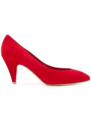 Туфли с миндалевидным носком Mansur Gavriel. Цвет: красный