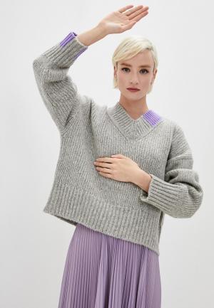 Пуловер Helmut Lang. Цвет: серый