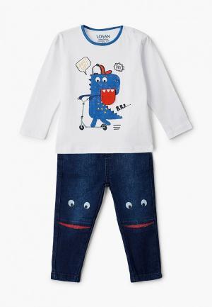 Лонгслив и джинсы Losan. Цвет: разноцветный