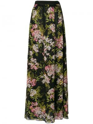 Длинная юбка с цветочным принтом Giambattista Valli. Цвет: многоцветный