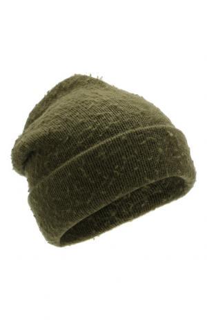 Шапка из смеси шерсти и кашемира Acne Studios. Цвет: зеленый