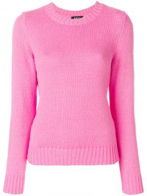 Свитер с круглым вырезом A.P.C.. Цвет: розовый и фиолетовый