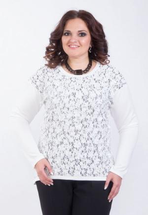 Блуза Wisell. Цвет: белый