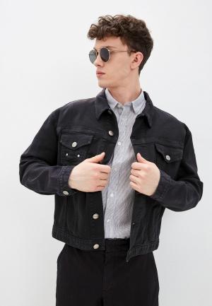 Куртка джинсовая Bikkembergs. Цвет: черный