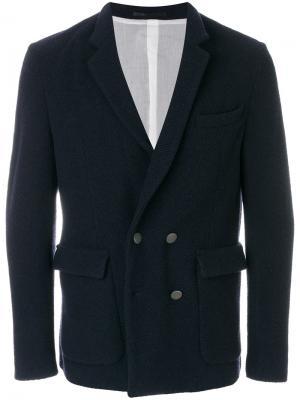 Двубортный пиджак Mauro Grifoni. Цвет: синий