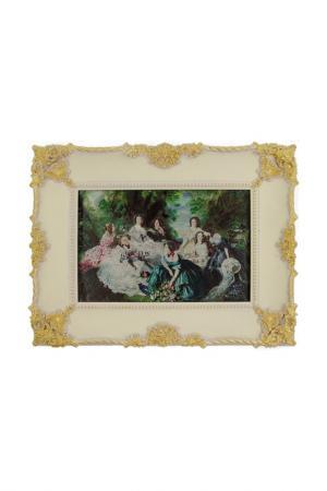 Картина Дамы на пикнике ГЛАСАР. Цвет: белый