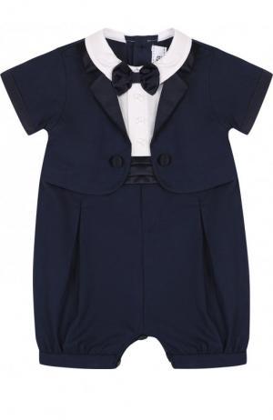 Комбинезон с декоративным галстуком-бабочкой Aletta. Цвет: синий
