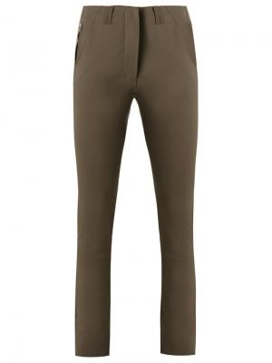 Прямые брюки Gloria Coelho. Цвет: коричневый
