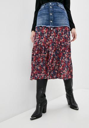 Юбка джинсовая Liu Jo. Цвет: разноцветный