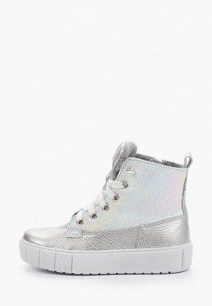 Ботинки Лель. Цвет: серебряный
