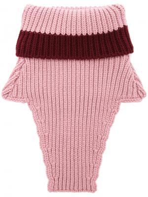 Отворотный воротник The Gigi. Цвет: розовый и фиолетовый