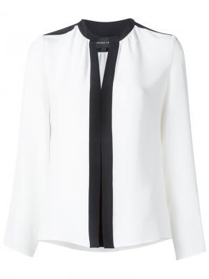 Блузка с V-образным вырезом Derek Lam. Цвет: белый