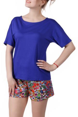 Пижамный комплект Sonett. Цвет: оранжево-синий