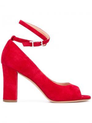 Туфли с открытым носком Unützer. Цвет: красный