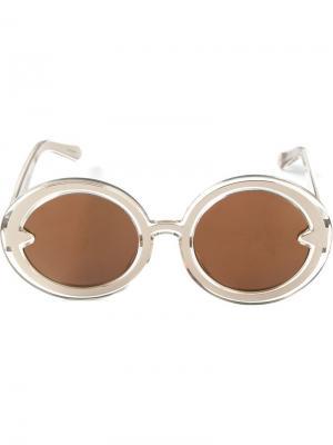 Солнцезащитные очки Orbit Karen Walker Eyewear. Цвет: металлический