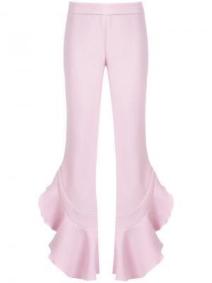 Брюки клеш с оборками Giambattista Valli. Цвет: розовый и фиолетовый