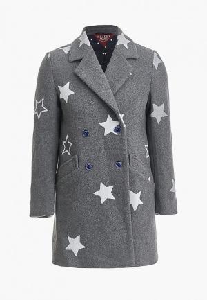 Пальто Gulliver. Цвет: серый