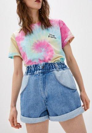 Шорты джинсовые Forte Dei Marmi Couture. Цвет: голубой