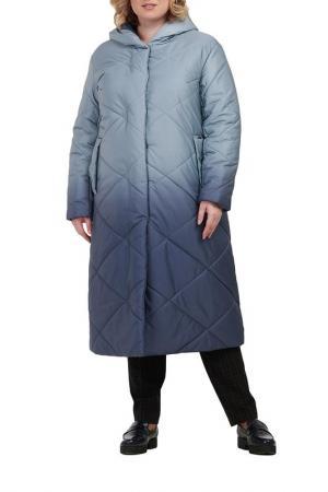 Пальто Modress. Цвет: серый градиент
