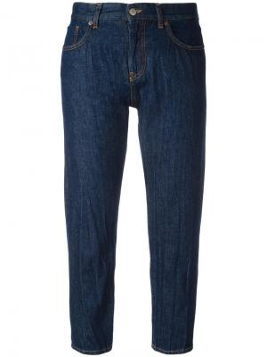 Зауженные укороченные джинсы Mm6 Maison Margiela. Цвет: синий