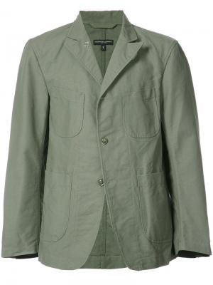 Классический блейзер Engineered Garments. Цвет: зелёный