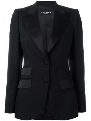 Классический блейзер Dolce & Gabbana. Цвет: чёрный