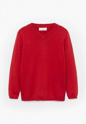 Пуловер Mango Kids. Цвет: красный