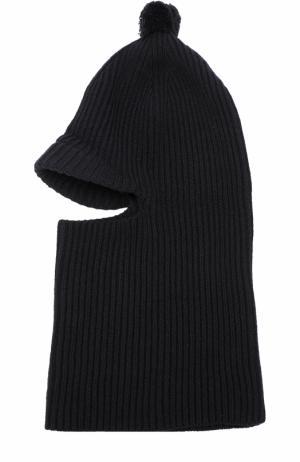 Шапка-балаклава из смеси шерсти и вискозы с кашемиром Inverni. Цвет: черный