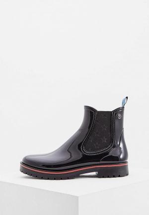 Резиновые ботинки Trussardi Jeans. Цвет: черный