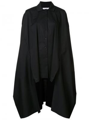 Рубашка -кейп свободного кроя Palmer / Harding. Цвет: чёрный