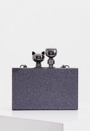 Клатч Karl Lagerfeld. Цвет: синий