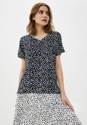 Блуза Luhta. Цвет: черный