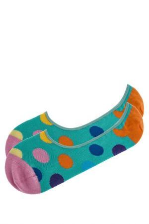 Носки HAPPY SOCKS. Цвет: бирюзовый