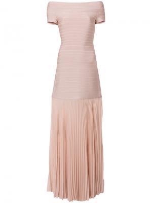 Длинное платье Breanna Hervé Léger. Цвет: розовый и фиолетовый