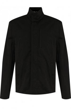 Хлопковая куртка на молнии с воротником-стойкой James Perse. Цвет: черный