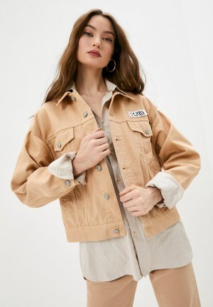 Куртка джинсовая MM6 Maison Margiela. Цвет: бежевый
