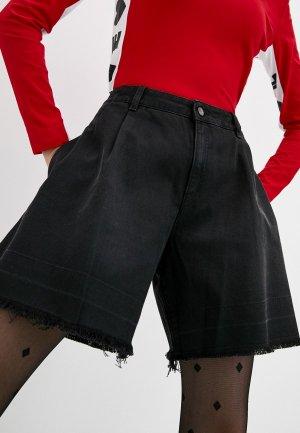 Шорты джинсовые Love Moschino. Цвет: черный