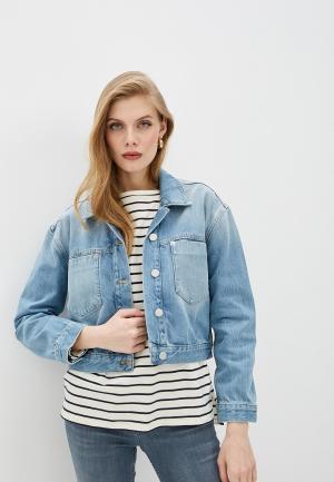 Куртка джинсовая French Connection. Цвет: голубой