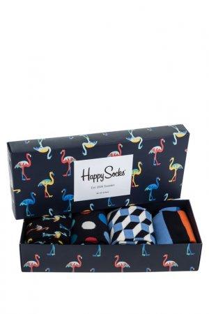 Комплект носков HAPPY SOCKS. Цвет: горошек